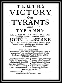 cover to a pamphlet by John Lilburne.