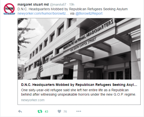"""Republican Refugees seek asylum in Democratic Party."